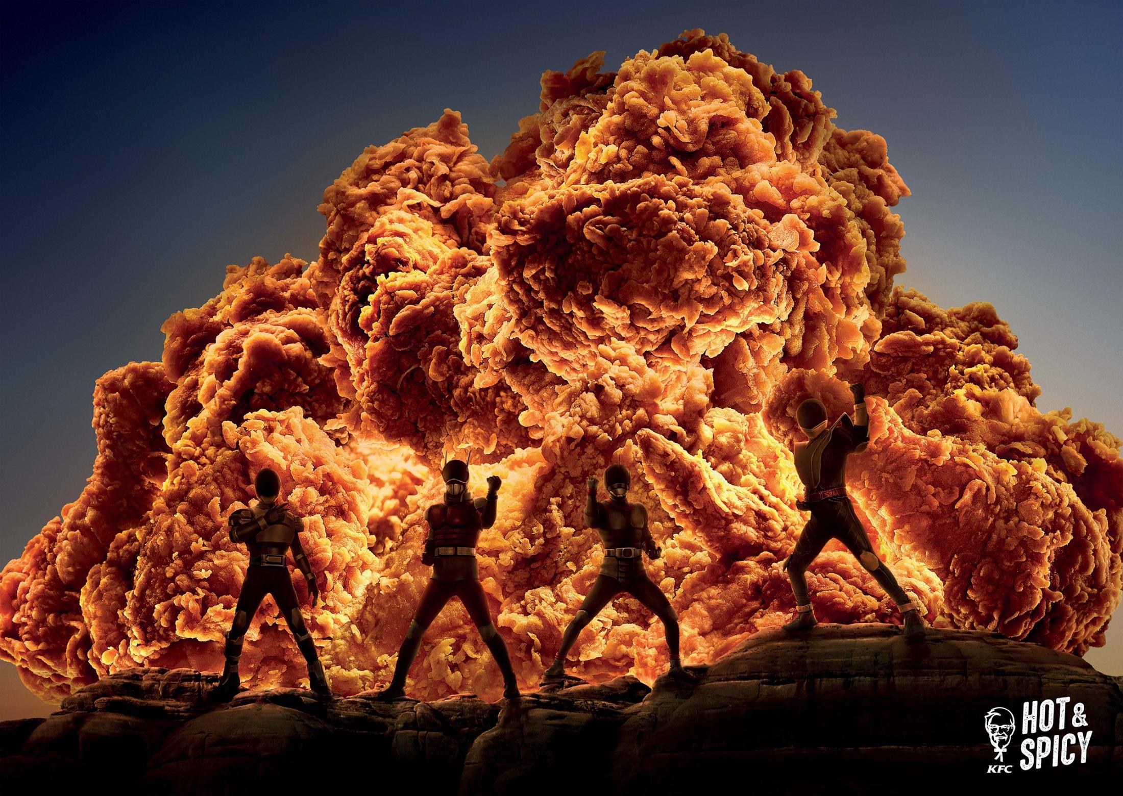 肯德基辣堡广告-热辣来袭