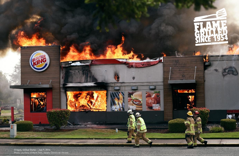 汉堡王-玩火自焚